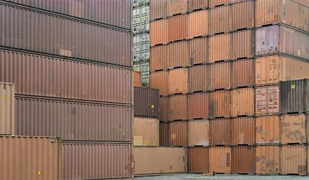 container yard #3 by Chris Jordan