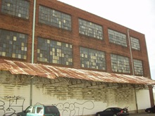Pre-construction photos showing neglect of the building