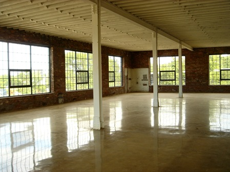 Interiors finishes are true to the original building / new polished concrete floor