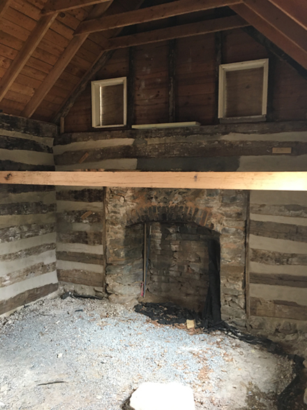 Historic Log Kitchen