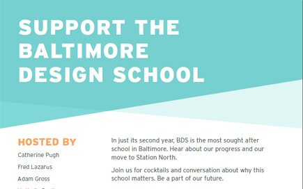Fundraiser for Baltimore Design School