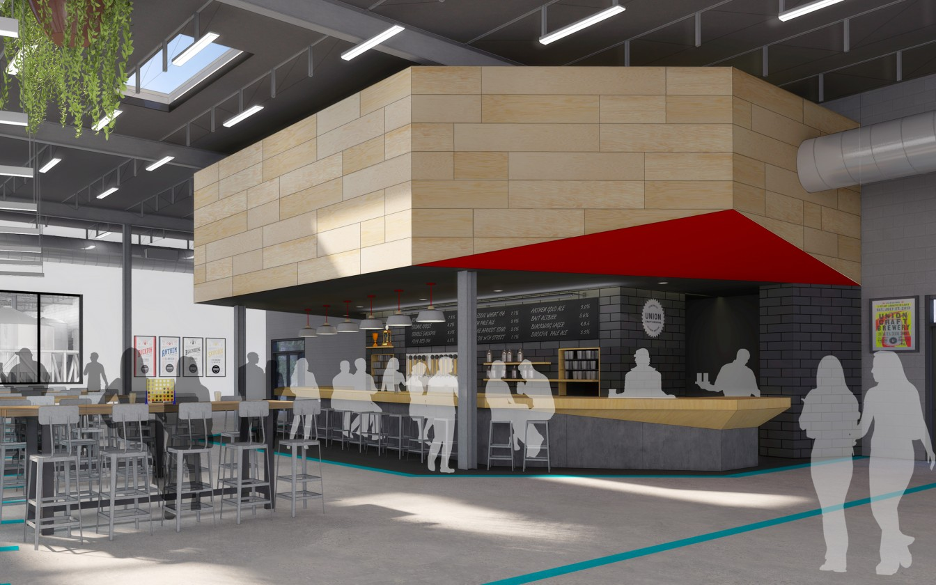 Projects ziger snead architects for Union craft brewing baltimore md