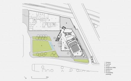 Ground Level Plan-Maryland Institute College of Art Brown Center