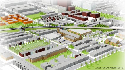 Rendering-Hoen & Co. Lithograph Center for Neighborhood Innovation Redevelopment
