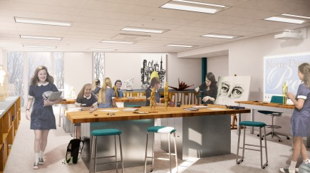 Art Classroom-Notre Dame Preparatory School Innovation Wing