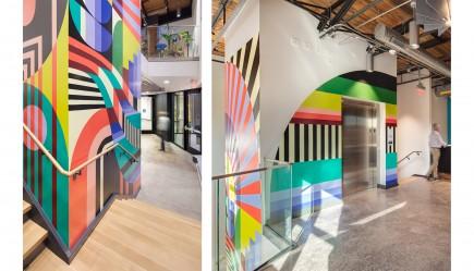 New Stair and Elevator-Robert W. Deutsch Foundation Building - 2519 N. Charles St. Redevelopment