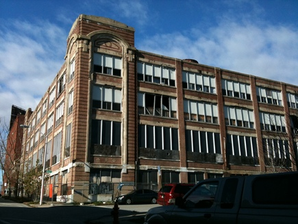 Existing exterior, formerly the Lebow Coat Factory-Baltimore Design School