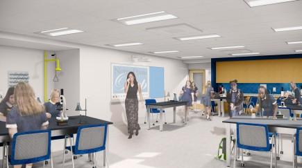 Science Lab-Notre Dame Preparatory School Innovation Wing